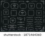 calligraphic design elements .... | Shutterstock .eps vector #1871464360