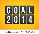 goal football soccer concept... | Shutterstock .eps vector #187146533