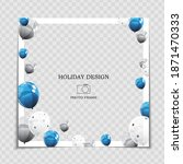 party holiday photo frame... | Shutterstock .eps vector #1871470333