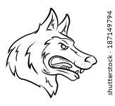 wolf head | Shutterstock . vector #187149794