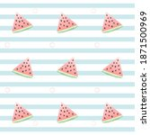 slices of watermelon on a... | Shutterstock . vector #1871500969