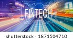 fintech concept with abstract... | Shutterstock . vector #1871504710