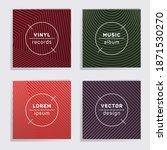 cool vinyl records music album...   Shutterstock .eps vector #1871530270