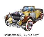 vintage car | Shutterstock .eps vector #187154294