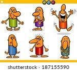 cartoon illustration of funny... | Shutterstock .eps vector #187155590