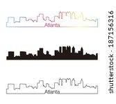 atlanta skyline linear style... | Shutterstock .eps vector #187156316