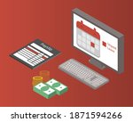 unpaid leave request or leave...   Shutterstock .eps vector #1871594266