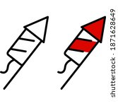 firecracker icon isolated on...