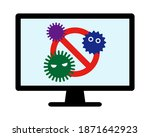 ban marks and computer viruses. ... | Shutterstock .eps vector #1871642923