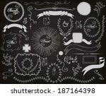 chalkboard design elements  ... | Shutterstock .eps vector #187164398