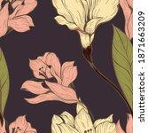 beautiful seamless floral... | Shutterstock . vector #1871663209