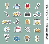 car service maintenance icons... | Shutterstock .eps vector #187166756