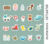 baby icons set | Shutterstock .eps vector #187166768