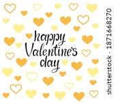 happy valentine's day vector...   Shutterstock .eps vector #1871668270