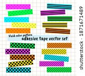 vivid color pattern adhesive... | Shutterstock .eps vector #1871671489