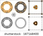a set of bright orange and...   Shutterstock .eps vector #187168400