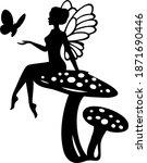 wings doll. cartoon character... | Shutterstock .eps vector #1871690446
