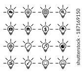 light bulb idea icon | Shutterstock .eps vector #187169150