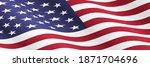 waving american flag...   Shutterstock . vector #1871704696