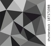 grey triangle vector background ... | Shutterstock .eps vector #187171088