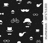 seamless pattern with gentleman ...   Shutterstock .eps vector #1871711203