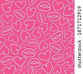 abstract seamless love pattern. ... | Shutterstock .eps vector #1871712919