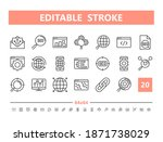 seo 20 line icons. vector... | Shutterstock .eps vector #1871738029