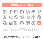 help and support 20 line icons. ... | Shutterstock .eps vector #1871738086
