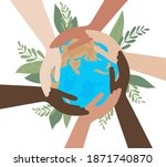 hands of people with different...   Shutterstock .eps vector #1871740870