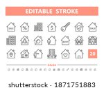 real estate 20 line icons.... | Shutterstock .eps vector #1871751883