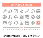 sound and music 20 line icons.... | Shutterstock .eps vector #1871751910
