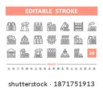 factory 20 line icons. vector... | Shutterstock .eps vector #1871751913