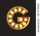 marquee light letter   vector   ...   Shutterstock .eps vector #187175633