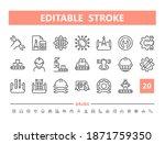 engineering 20 line icons....   Shutterstock .eps vector #1871759350