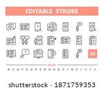 survey 20 line icons. vector...   Shutterstock .eps vector #1871759353