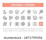 virus and bacteria 20 line...   Shutterstock .eps vector #1871759356