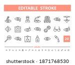 eye doctor 20 line icons....   Shutterstock .eps vector #1871768530