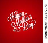 mothers day vintage lettering... | Shutterstock .eps vector #187177373