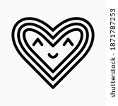 heart line icon  cute heart and ...   Shutterstock .eps vector #1871787253