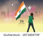 happy republic day  vector... | Shutterstock .eps vector #1871804749
