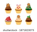 Decorated Christmas Cupcakes...
