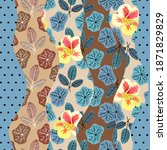 patchwork seamless pattern from ... | Shutterstock .eps vector #1871829829