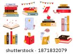 big set of colorful books  book ... | Shutterstock .eps vector #1871832079
