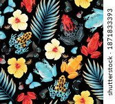 vector seamless pattern with...   Shutterstock .eps vector #1871833393