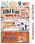Vintage Summer Holidays Signs