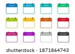 calendar month isolated vector...   Shutterstock .eps vector #1871864743