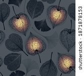 seamless floral pattern with...   Shutterstock .eps vector #1871878153