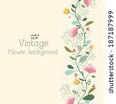 retro flower background concept.... | Shutterstock .eps vector #187187999