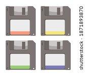 pile of floppy disks  vector... | Shutterstock .eps vector #1871893870