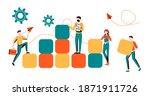business concept. team metaphor.... | Shutterstock . vector #1871911726